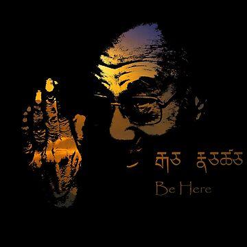 Tibetan Sunset Dalai Lama  by AlexanderFox