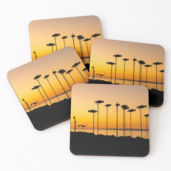 Breakwater Summer Sunset Coasters (Set of 4)