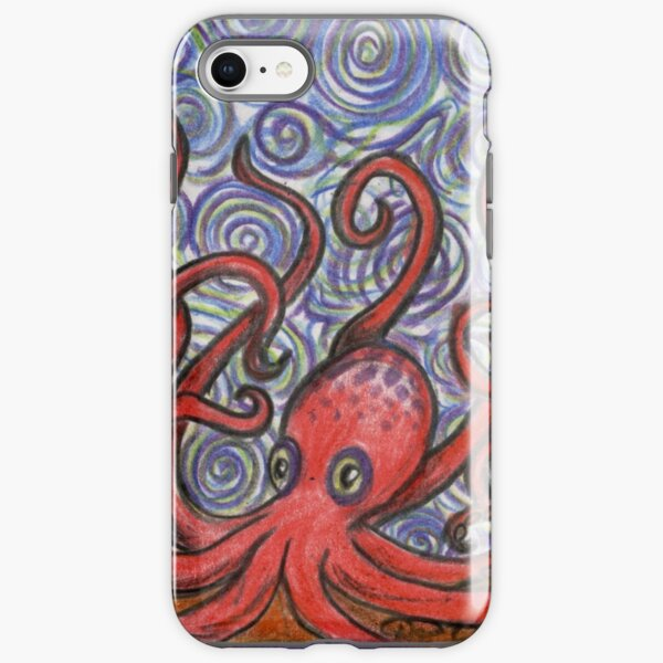Octopus and Swirls iPhone Tough Case