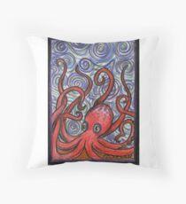 Octopus and Swirls Throw Pillow