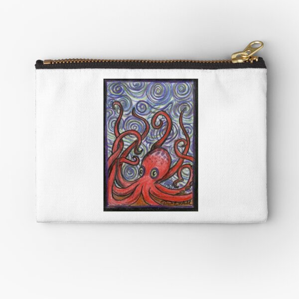 Octopus and Swirls Zipper Pouch