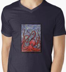 Octopus and Swirls Men's V-Neck T-Shirt