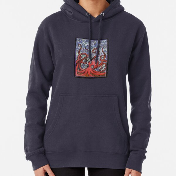 Octopus and Swirls Pullover Hoodie