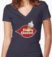 DAIRY QUEEN Women's Fitted V-Neck T-Shirt