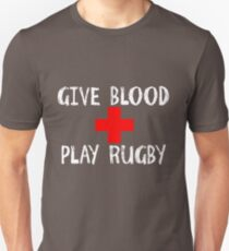 e5dfd800 Give Blood Play Rugby T-Shirts | Redbubble