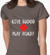 Give Blood, Play Rugby Women's Fitted T-Shirt