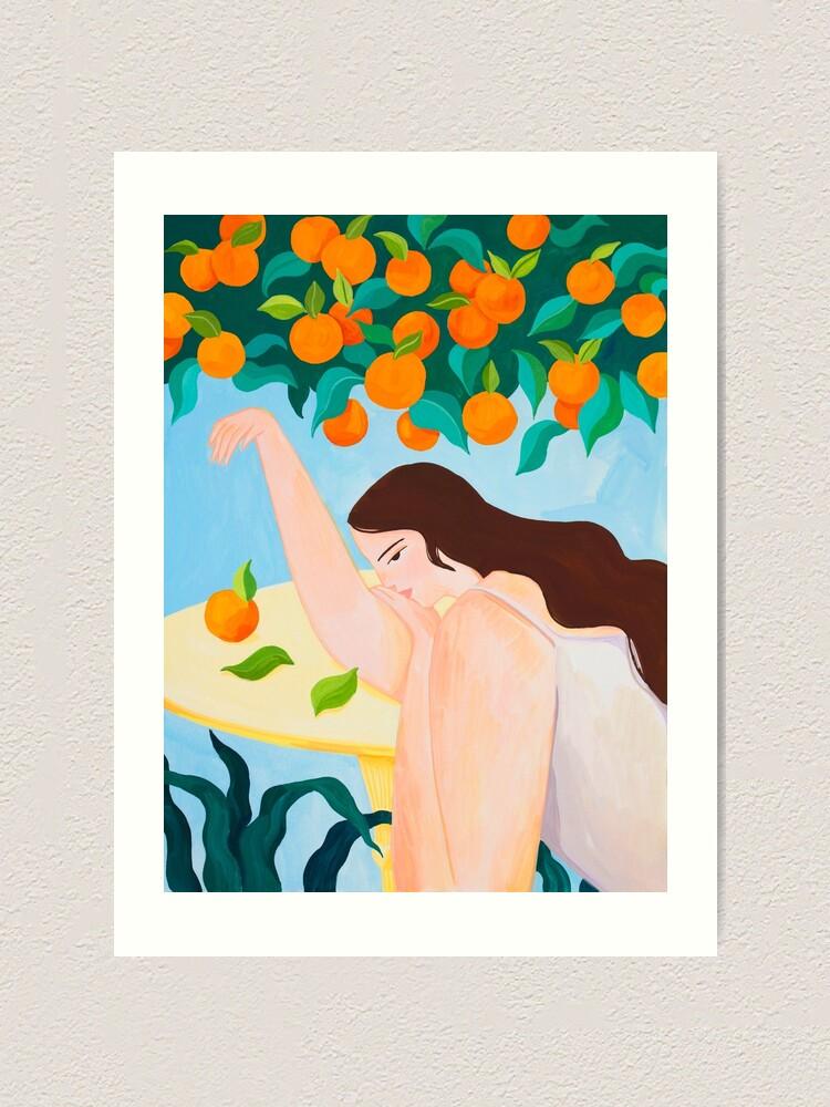 Alternate view of Under the Orange Tree Art Print
