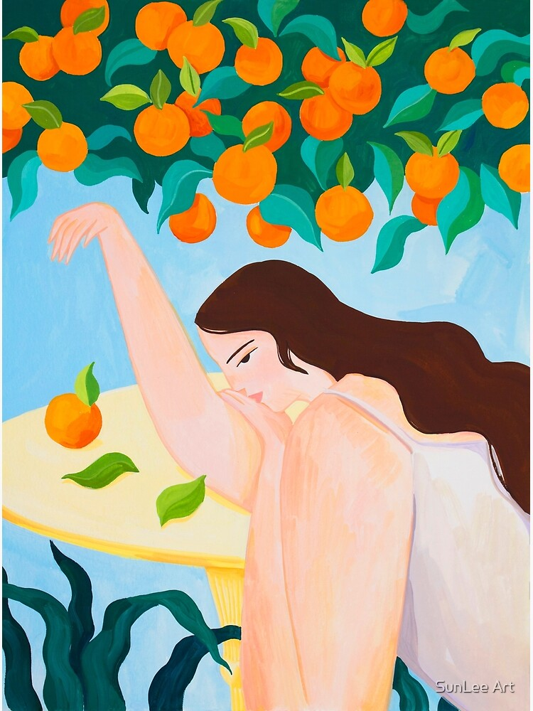 Under the Orange Tree by sunleeart