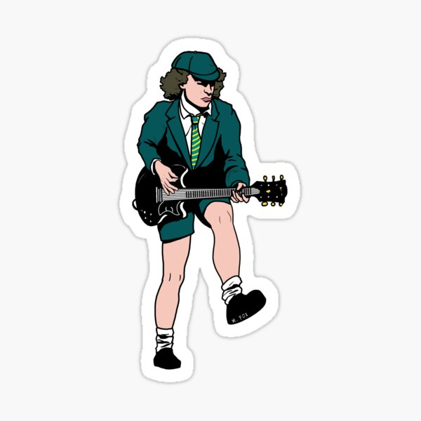 Angus Young Sticker