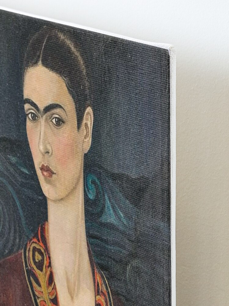 Alternate view of Self-portrait wearing a velvet dress by Frida Kahlo Mounted Print