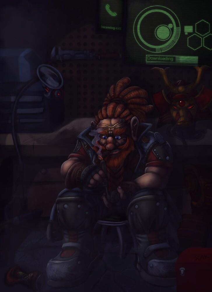 Brokkr (ShadowRun) by Diegowned