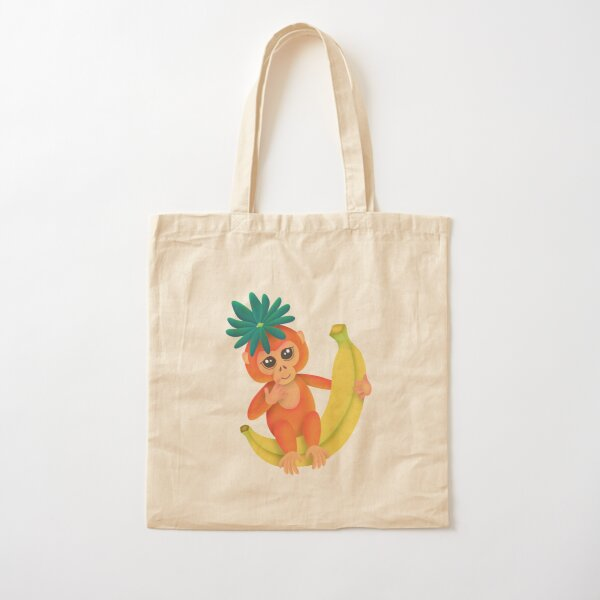 Cute Monkey Cotton Tote Bag