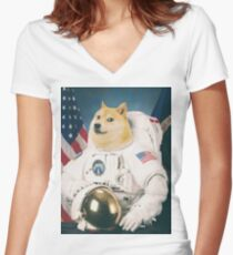 Dogenaut Women's Fitted V-Neck T-Shirt