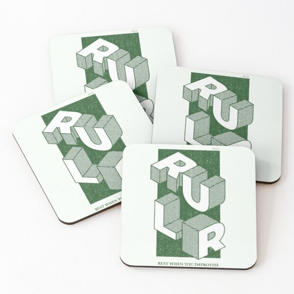 Isometric Coasters (Set of 4)