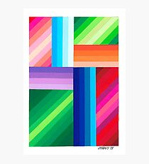 COLORED STRIPES Photographic Print