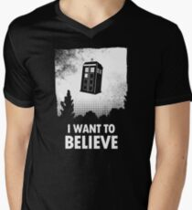 I Want To Believe  Men's V-Neck T-Shirt