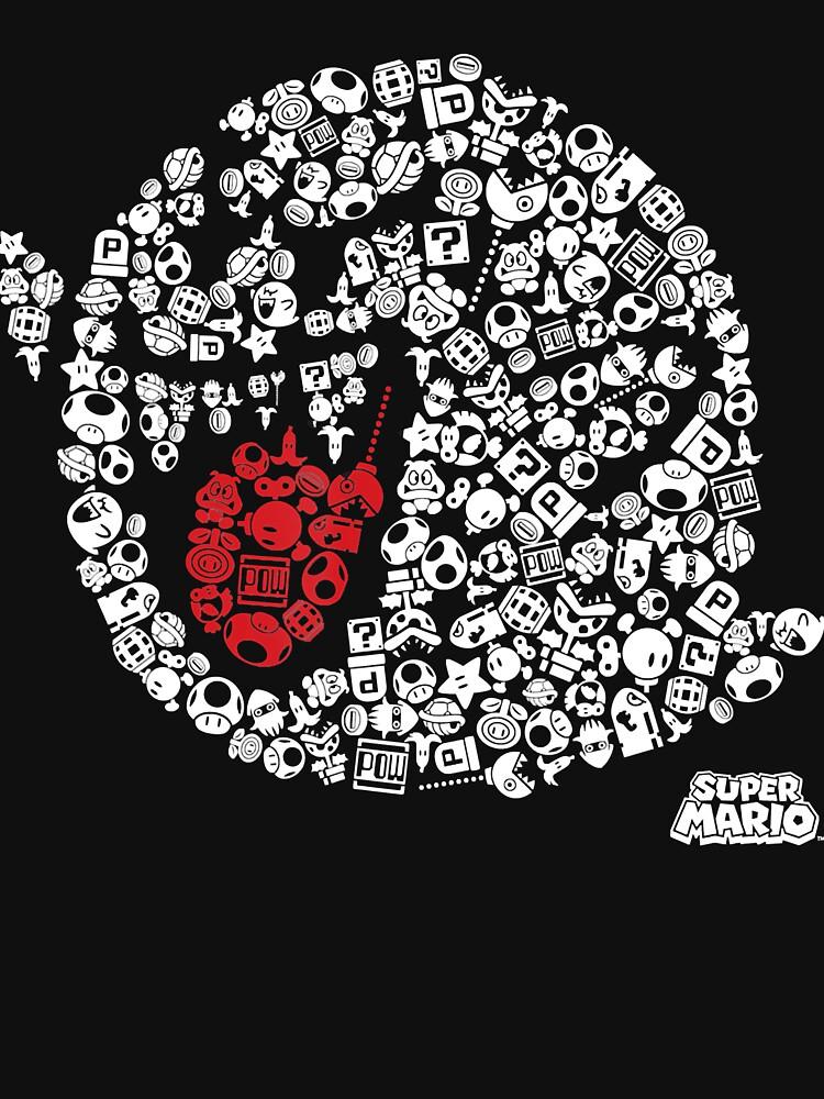 Nintendo Super Mario Iconic Boo Portrait Graphic T-Shirt T-Shirt by whatsupbros