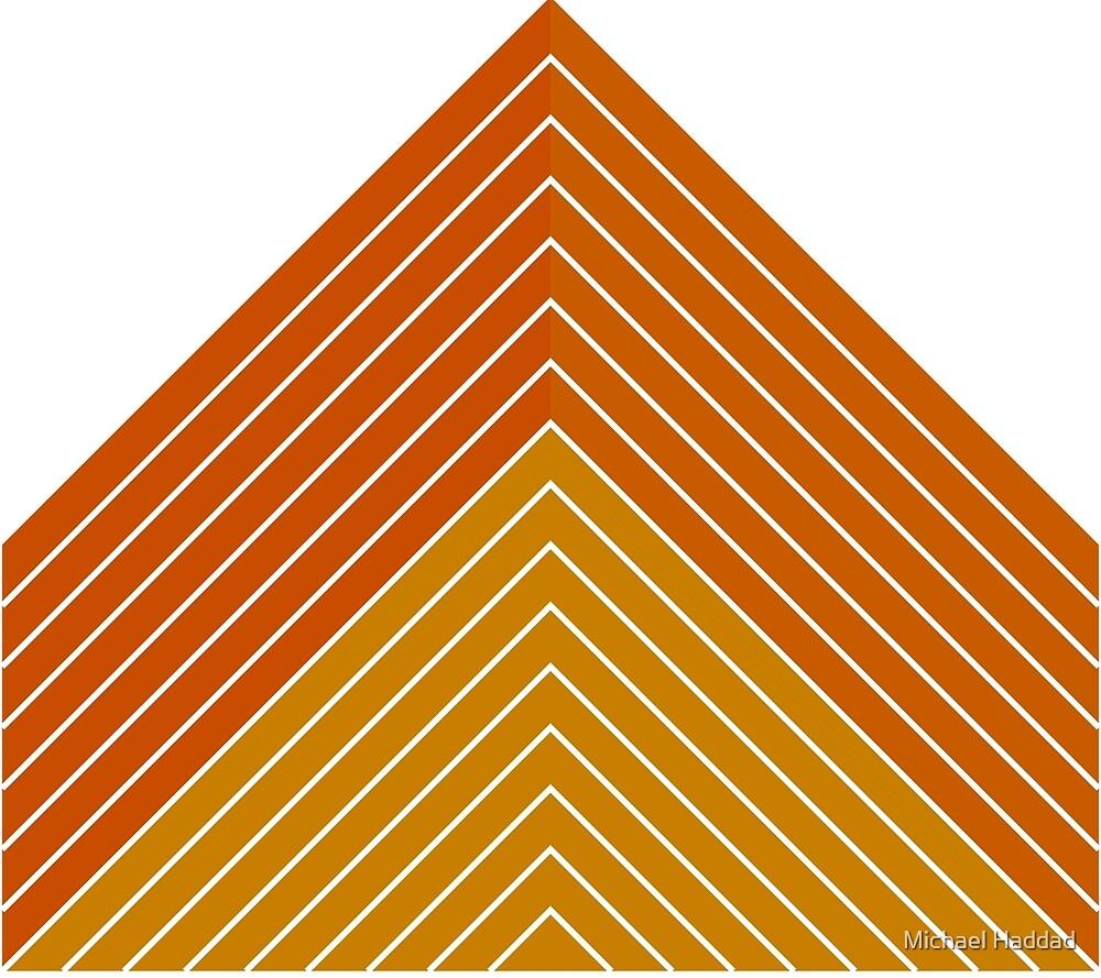 Orange Triangle by Michael Haddad