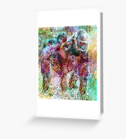 GORILLA AND BABE Greeting Card