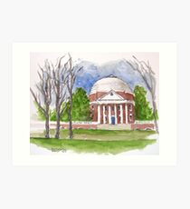 The Rotunda At UVA Art Print