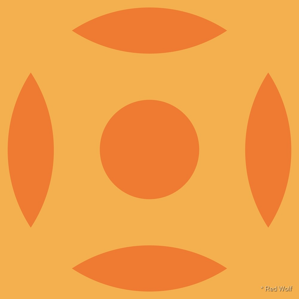 Geometric Pattern: Intersect Circle: Citrus by * Red Wolf