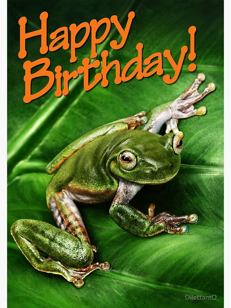 Tree Frog 2 Happy Birthday Greeting Card By Dilettanto Redbubble