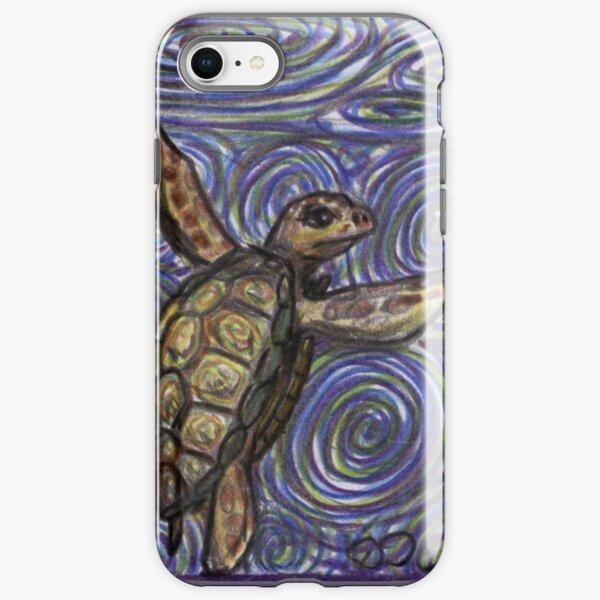 Loggerhead Turtle and Swirls iPhone Tough Case