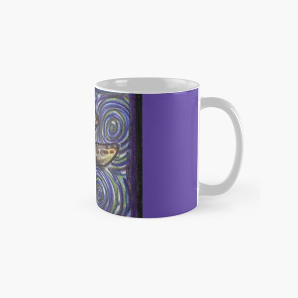 Loggerhead Turtle and Swirls Classic Mug