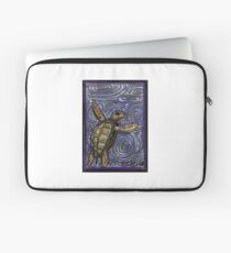 Loggerhead Turtle and Swirls Laptop Sleeve