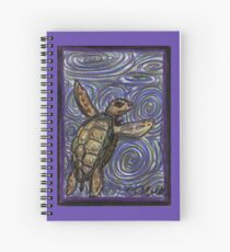 Loggerhead Turtle and Swirls Spiral Notebook