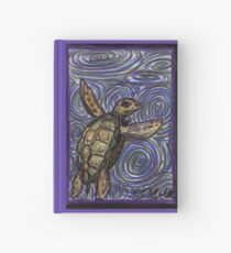 Loggerhead Turtle and Swirls Hardcover Journal