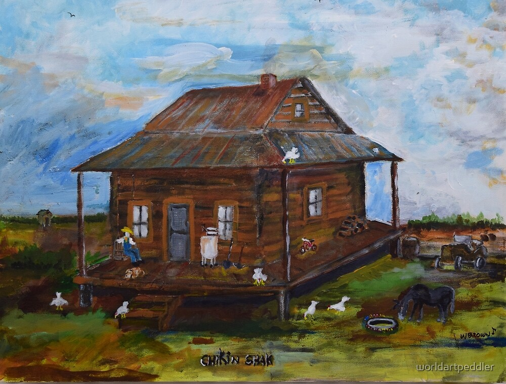 Farm House by worldartpeddler