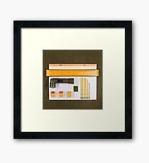 Electrigram-Yellow & Green Framed Print