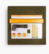 Electrigram-Yellow & Green Canvas Print