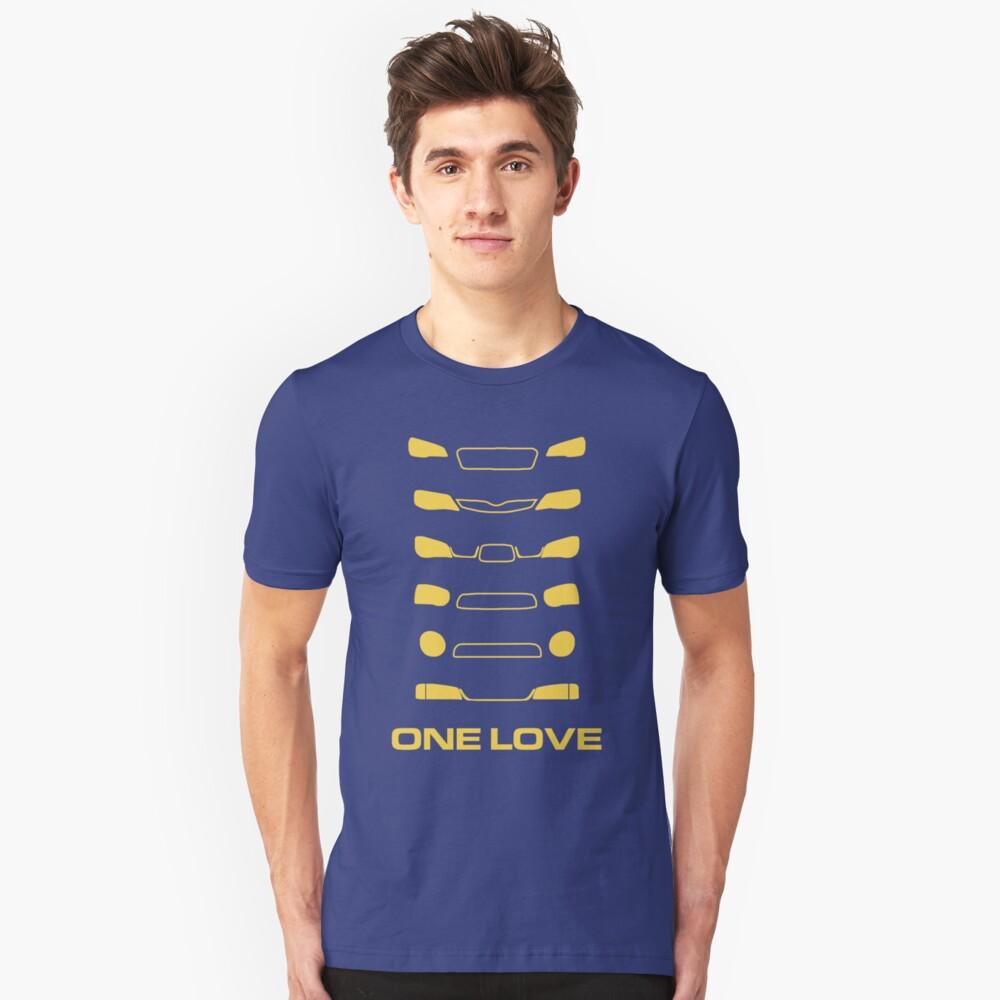 Camiseta unisexSubaru Impreza - Un amor Delante