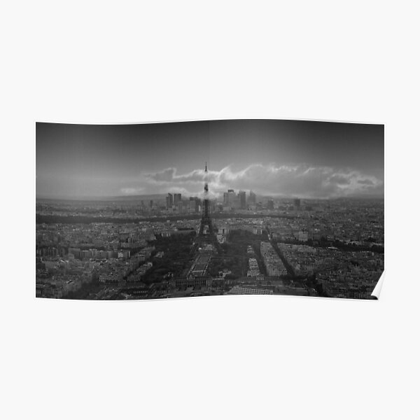 Eiffel Tower in the clouds Poster