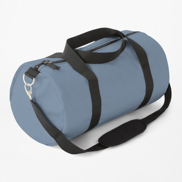 Blue Gray Plain Solid Color Background Duffle Bag