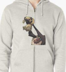Pug King Zipped Hoodie