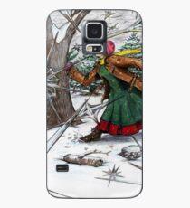 Snowflake Girl Case/Skin for Samsung Galaxy