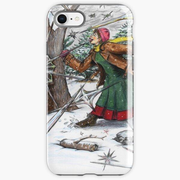 Snowflake Girl iPhone Tough Case