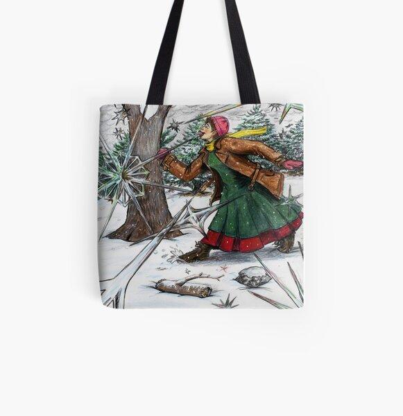 Snowflake Girl All Over Print Tote Bag