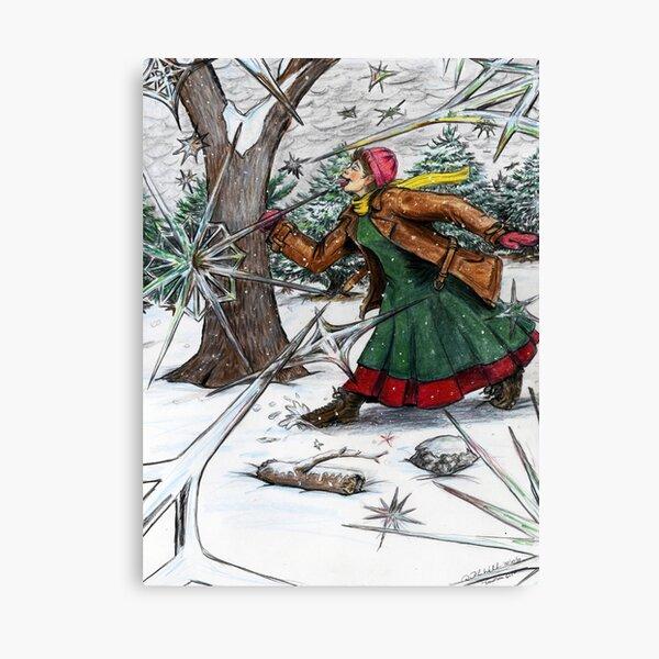 Snowflake Girl Canvas Print
