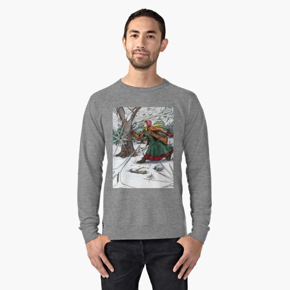 Snowflake Girl Lightweight Sweatshirt Front