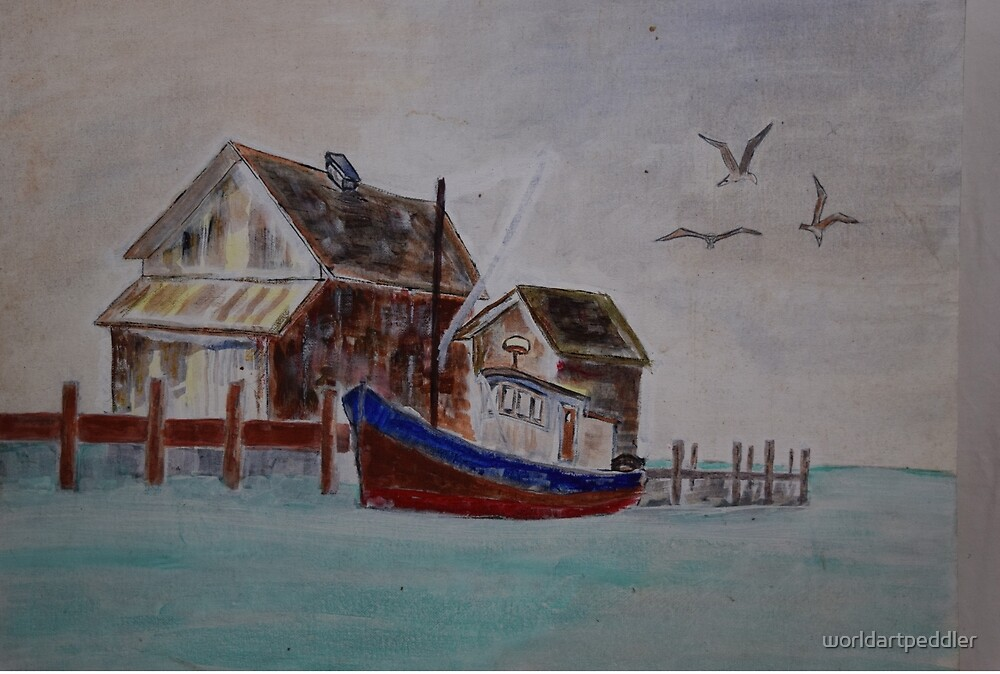 House by the Sea by worldartpeddler