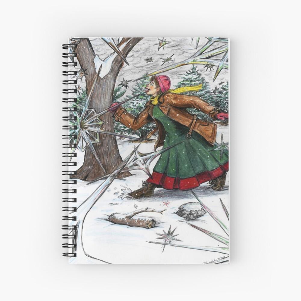 Snowflake Girl Spiral Notebook