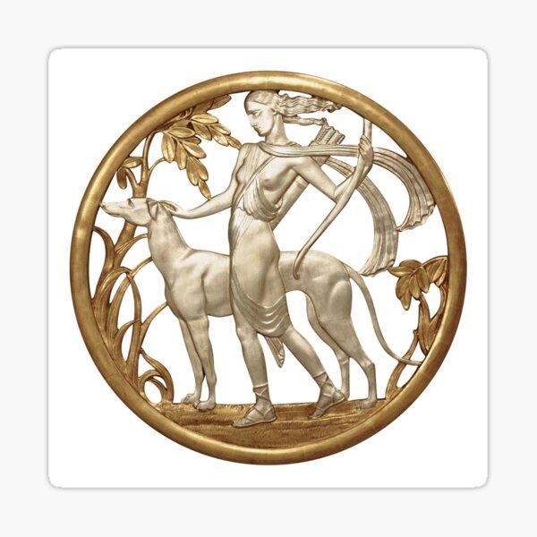 Art Deco Artemis and Hound Sticker