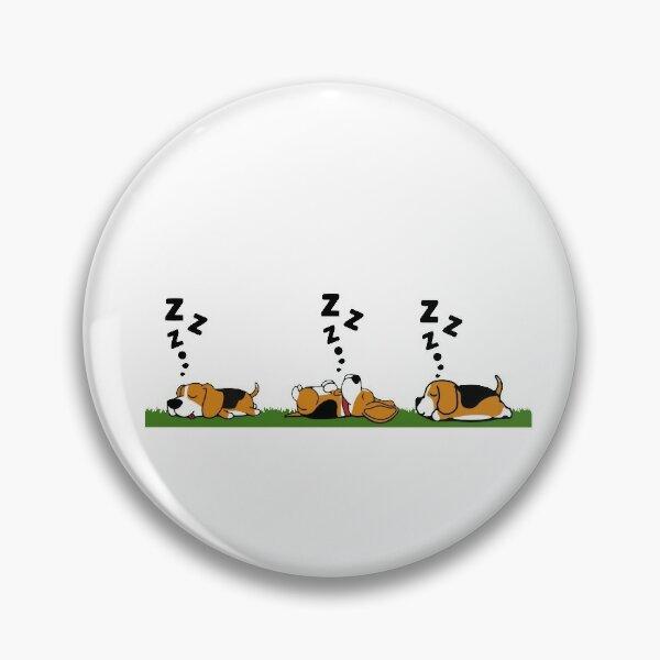 Sleeping Beagle Dog Pin