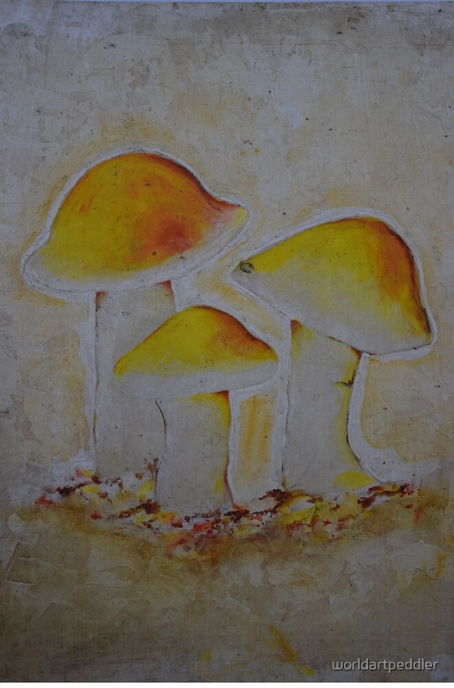 Mushrooms by worldartpeddler