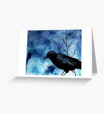 Crow Veins Greeting Card