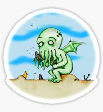 Cthulhu At Play Sticker